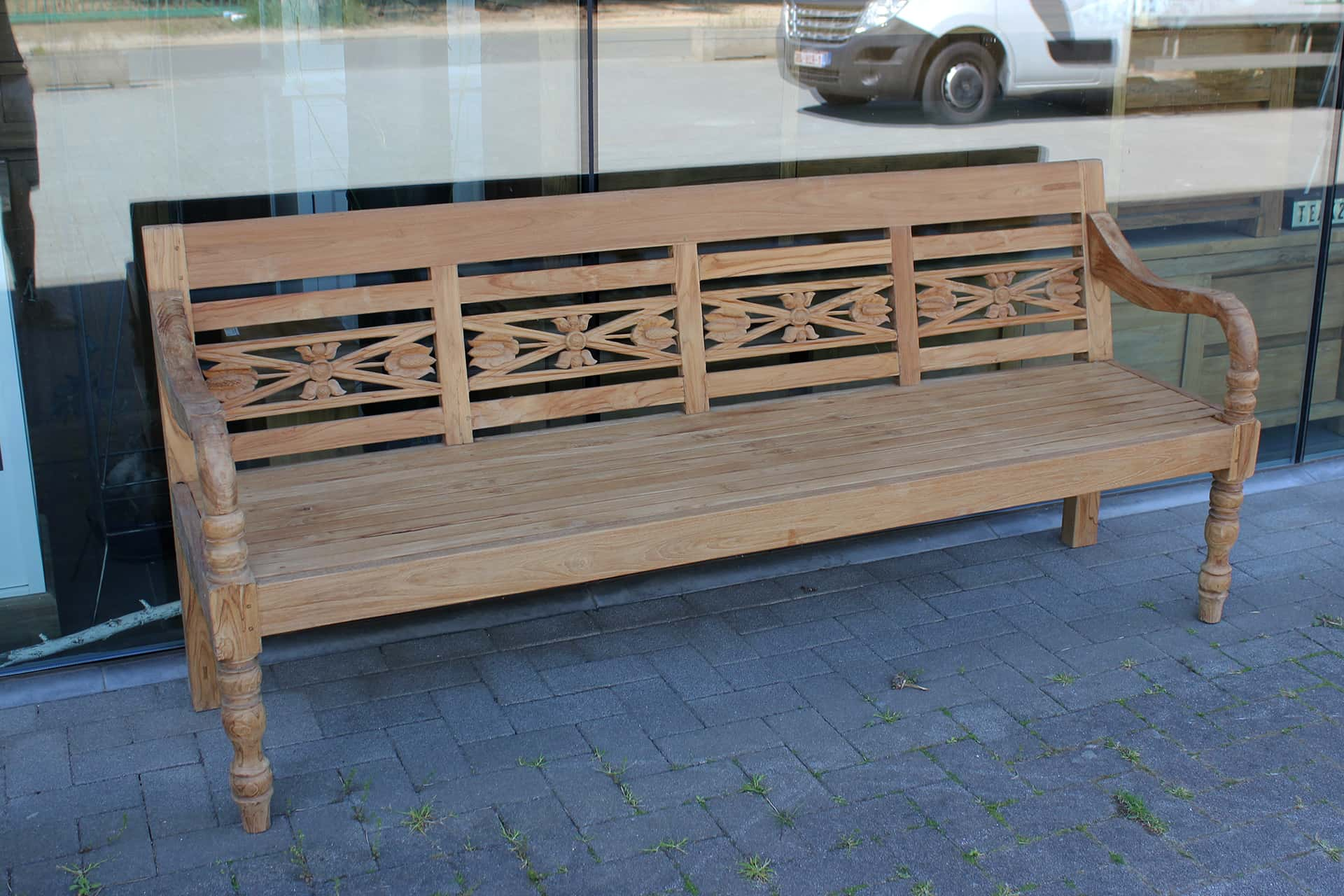 Bangku Raya O190 Old | luxury old station bench teak, quality from Indonesia. Garden bench old teak, teak garden benches & station benches - TEAK2.