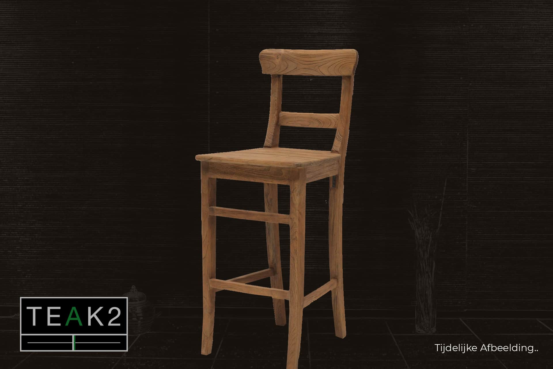 Bar stool Teak Kursi L-Old | rural teak bar stool in beautiful old teak. Comfortable and solid bar stool, quality from Indonesia - TEAK2.