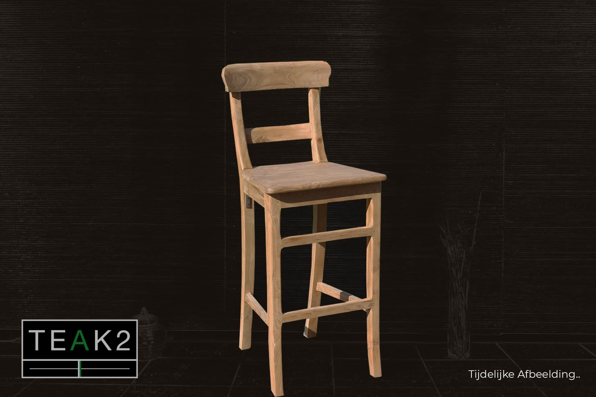 Bar stool Teak Kursi | modern wooden bar stool in smooth teak, comfortable bar stool teak. Wooden bar stool, solid, solid construction & comfortable seating - TEAK2.