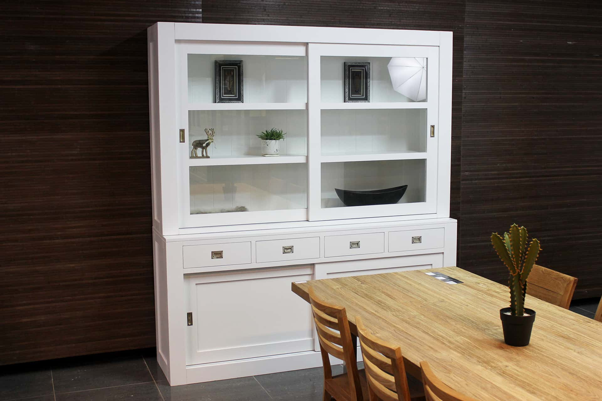 Corak 200L SW | white modern buffet cabinet in RAL 9016. Designer buffet cabinets & display cabinets for sleek, industrial or modern interiors - TEAK2 furniture.