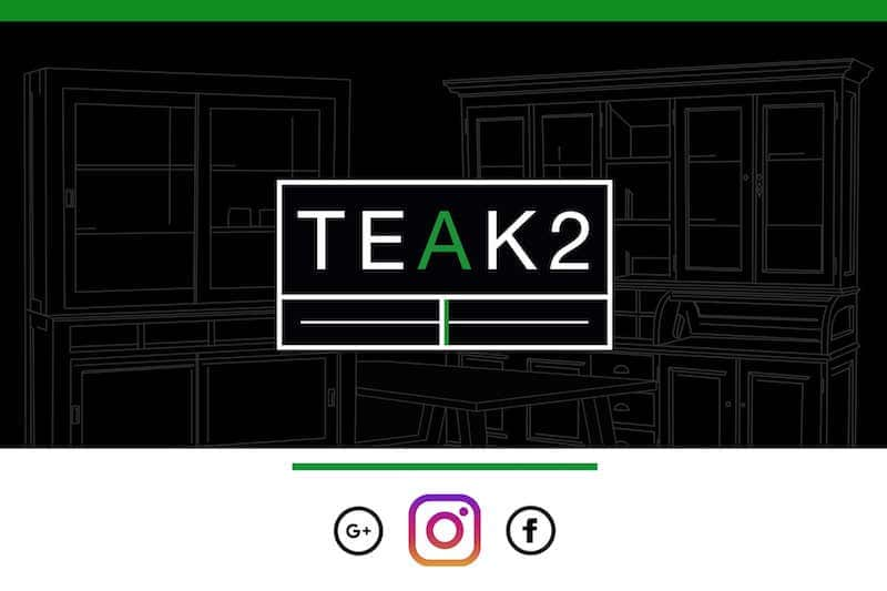 News TEAK2 | furniture store TEAK2 now also available on Instagram