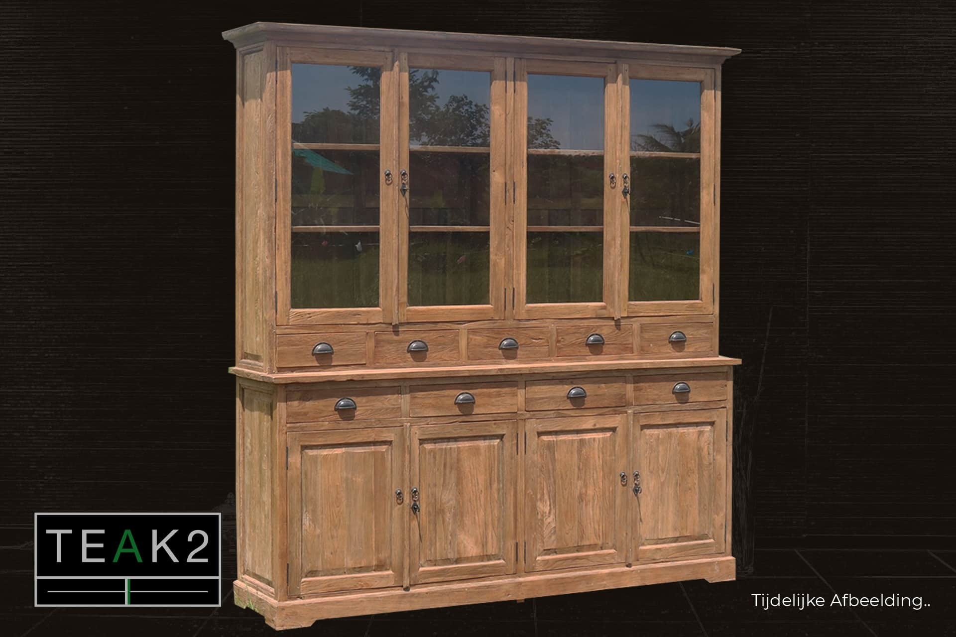 Mix Lebar 130-210L Old | rustic wooden buffet cabinet with drawers - TEAK2