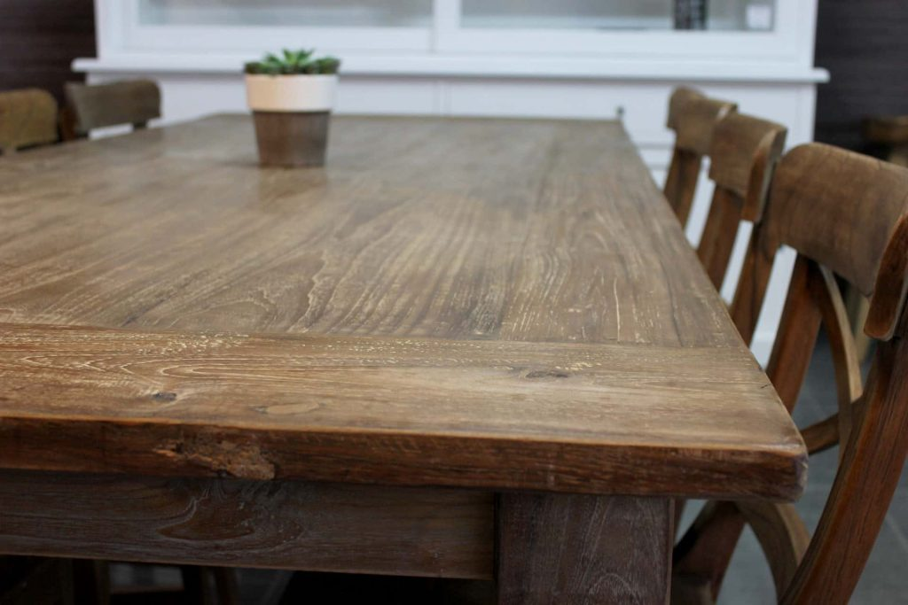 Teak Lugas T240KL Old | rural dining table in old teak, beautiful grain & lived structure. Teak table & dining table, quality - TEAK2.