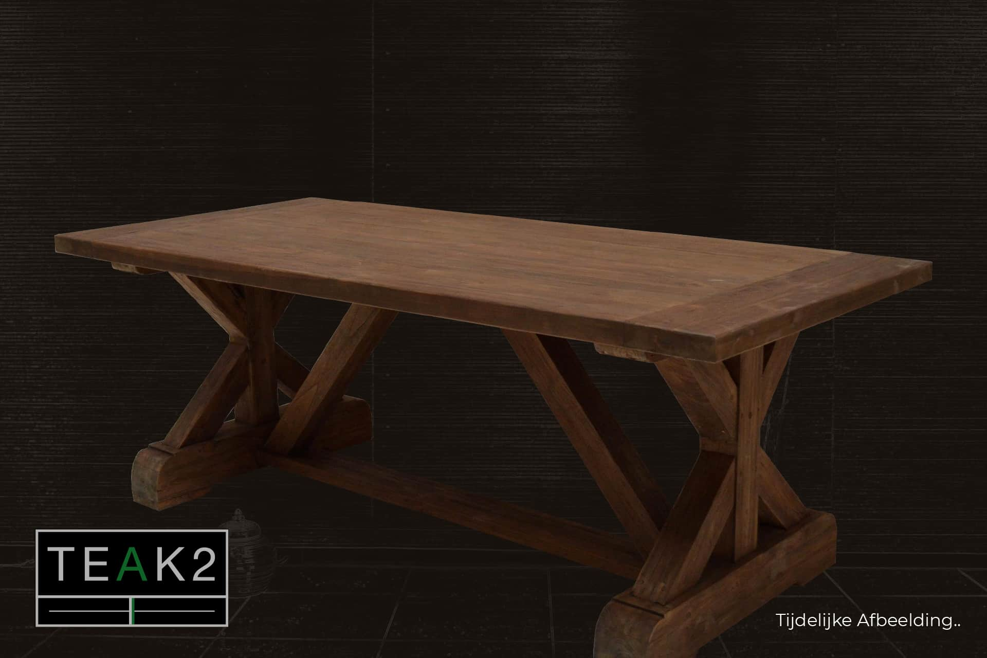 Teak Rahib Palang T220KL Old | luxury old wooden dining table teak in rural style, thick solid old teak table. Monastery table, kitchen table - TEAK2.